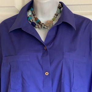 "CHICO'S ""no iron"" classic blouse"